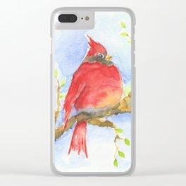 Mr. Cardinal Clear iPhone Case
