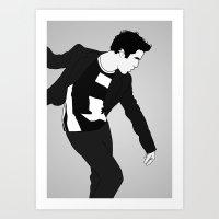 darren criss Art Prints featuring Darren Criss Dancing! by byebyesally