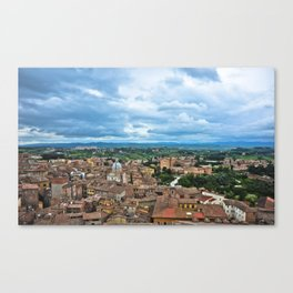 Siena, Italy - from above Canvas Print