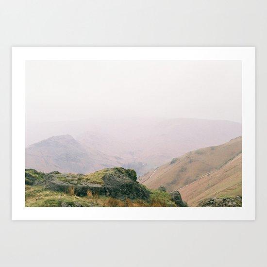 Misty Mountains Art Print
