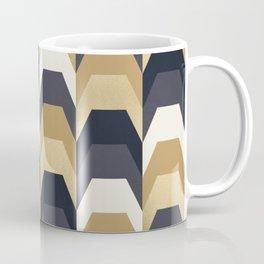 Stacks of Gold and Navy Coffee Mug