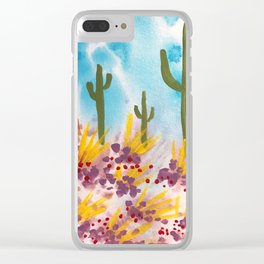 Painted Desert 5 Clear iPhone Case