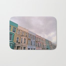 Colourful houses in Notting Hill, London Bath Mat