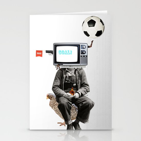Goal Head TV Collage Stationery Cards