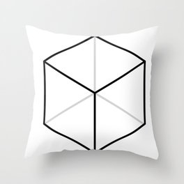 D6, White Throw Pillow