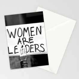 Women are Leaders Stationery Cards