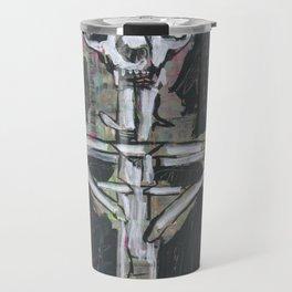 Esquelet de moix amb cos de fustes Travel Mug