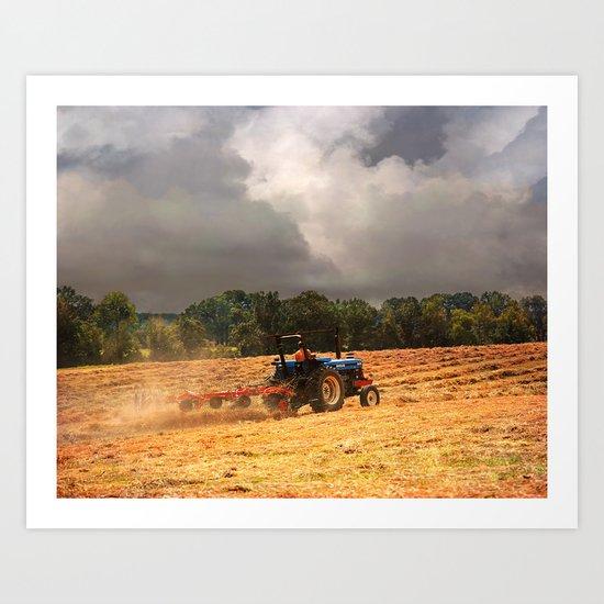 Race Against the Storm Art Print
