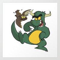 Avery Vs Dragon Art Print
