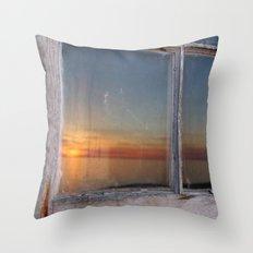 Window Sunset  Throw Pillow