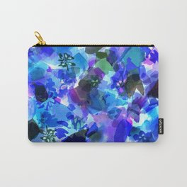 Blue Tulip Floral Carry-All Pouch