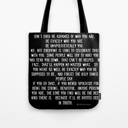 Be Yourself Quotes Tote Bag
