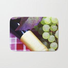 Wine and green grape Bath Mat