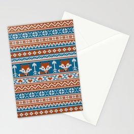 Fair Isle Fox - Blue Stationery Cards