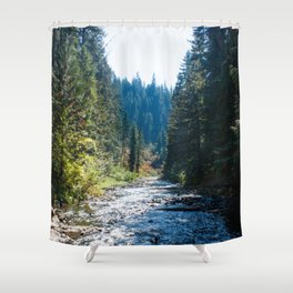 Fall Trees Photography Print Shower Curtain
