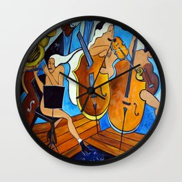 Symphonie de Cobalt Wall Clock