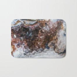 Tiny geode crystal cave Bath Mat