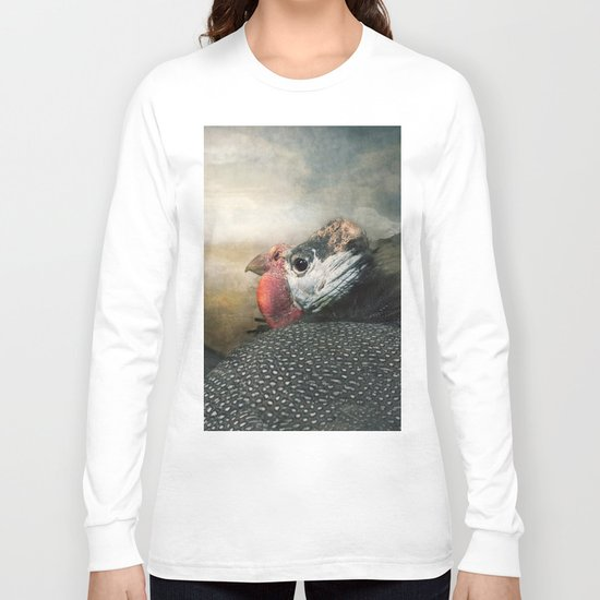 Do Guinea fowl converse....? Long Sleeve T-shirt