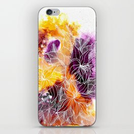 Purple Explosion iPhone Skin