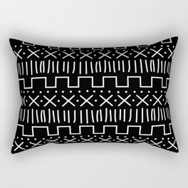 Black Mud Cloth Rectangular Pillow