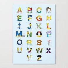 Simphabet Canvas Print