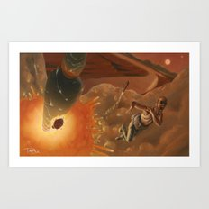 A Relic of the Empire: A Rich Mann's Lazy Retribution Art Print