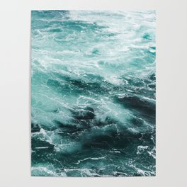 Water Photography   Sea   Ocean   Pattern   Abstract   Digital   Turquoise Poster