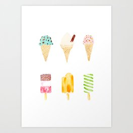 ice cream selection Art Print