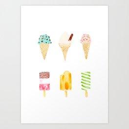 ice cream selection Art Print