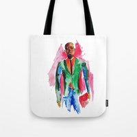 the dude Tote Bags featuring Dude by Anastasiya  Tcapko