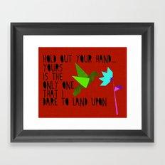 Hummingbird - The Weepies Lyrics Framed Art Print