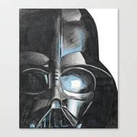darth Canvas Prints featuring Darth by Michael Hewitt