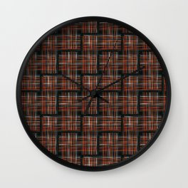 Abstract Criss Cross Weave Wall Clock