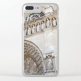 Notre Dame Detail - travel photography Clear iPhone Case