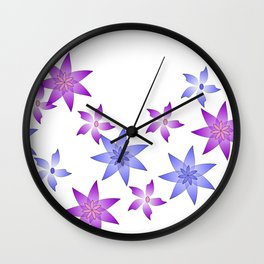 Floral flow Wall Clock