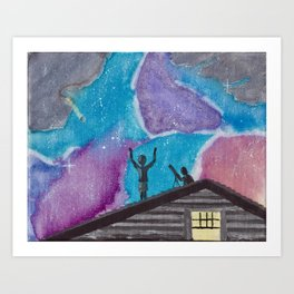 Taking a Shower in the Cosmos Art Print
