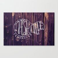 nashville Canvas Prints featuring Nashville by Grant Fisher