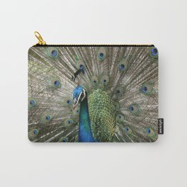 Peacock Indian Blue Carry-All Pouch