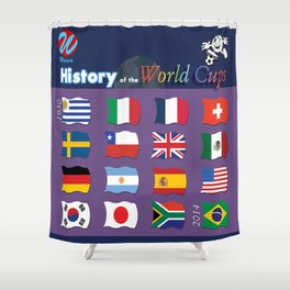 History of the World Cups Book Cover Shower Curtain