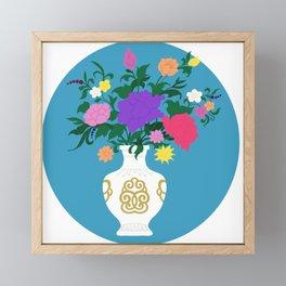 Vase of flowers Framed Mini Art Print