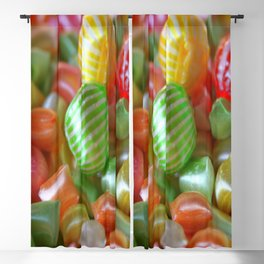 Multi-Colored Striped Candy Blackout Curtain