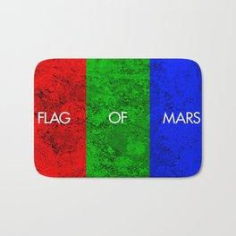 THE FLAG OF MARS Bath Mat