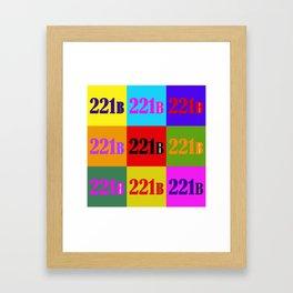 221B Color Block Framed Art Print