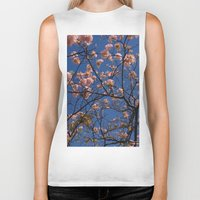 cherry blossoms Biker Tanks featuring cherry blossoms... by winnie patterson