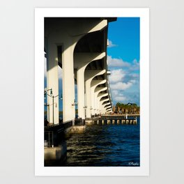 Bridge at Jensen Beach Art Print