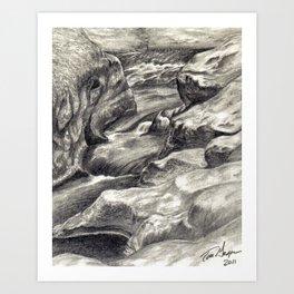Black and White 2 Art Print