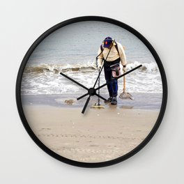 Searching for Treasure Wall Clock