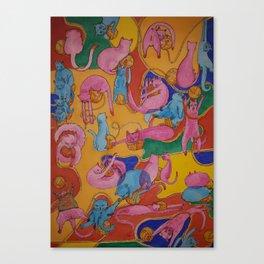 Crazy Yarn Canvas Print