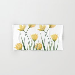 Yellow Woodland Tulips Hand & Bath Towel