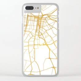 LOUISVILLE KENTUCKY CITY STREET MAP ART Clear iPhone Case